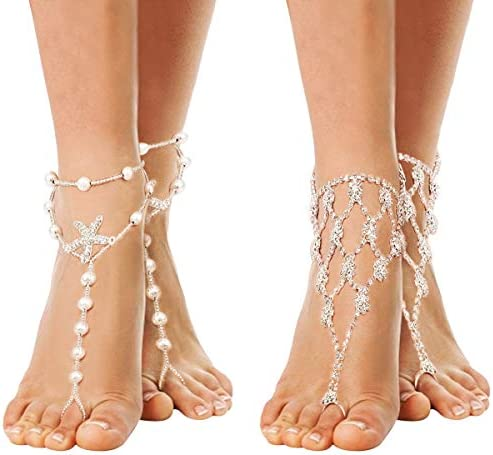 Cosweet Barefoot Sandals Rhinestone Accessories product image