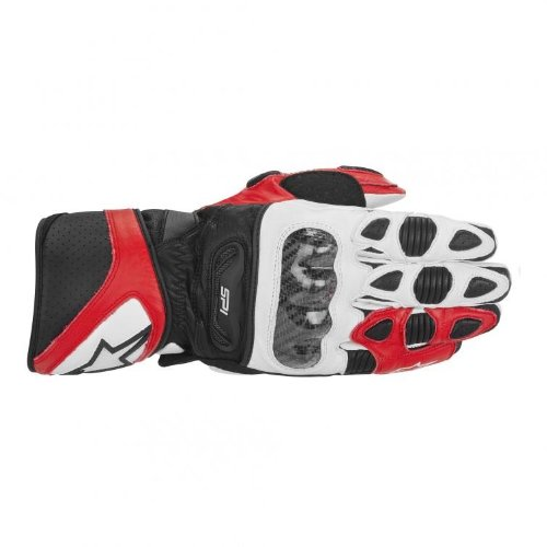 Alpinestars SP-1 Men's Leather Road Race Motorcycle Gloves - Red/White/Black / Large