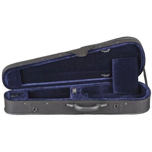 Toshira Shaped Violin Case Black Blue 1/2 Size Tos-7149