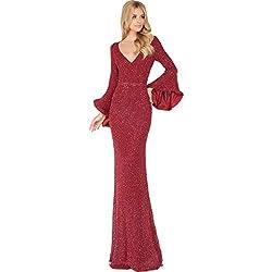 Long Beaded Evening Dress