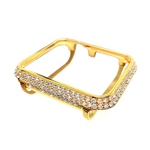 iRepair Bling Bezel Diamond Rhinestone Crystal Case Compatible with Apple Watch Series 3 Series 2 Series 1 Sport,Nike+ and Edition- Gold (42mm