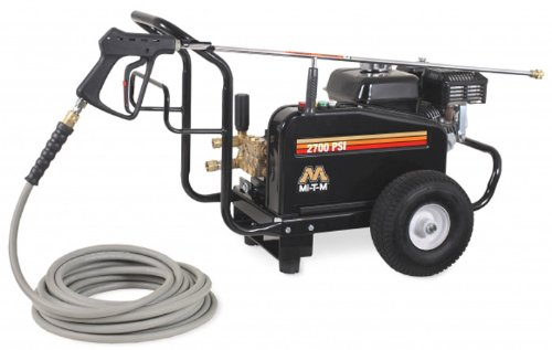 Mi-T-M JCW-2703-0MHB JCW Series Cold Water Belt Drive, 196cc Honda OHV Gasoline Engine, 2700 PSI Pressure Washer by Mi-T-M