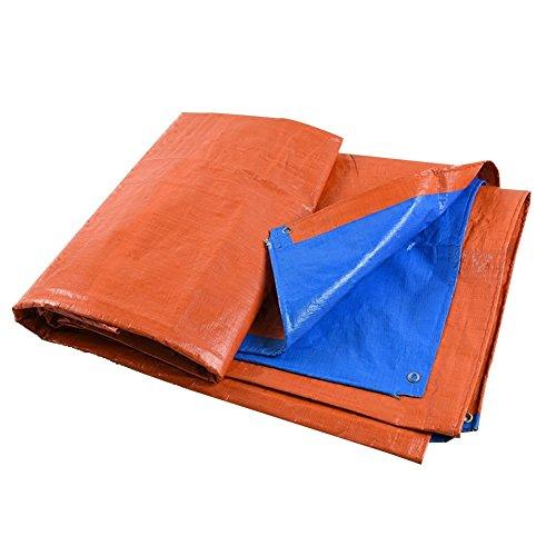 欲望ラダ再編成するPENGFEI 防水  オーニング 屋外 雨 布 シェード 日焼け止め、 ブルー+オレンジ 厚さ0.35MM、 175g / M 2、 7サイズのオプション ( 色 : Blue+Orange , サイズ さいず : 5x7M )