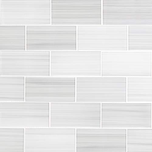 Glass Subway Backsplash Tile Bambu Hand Painted Series for Kitchen and Bathroom by WS Tiles - WSH-05H (3