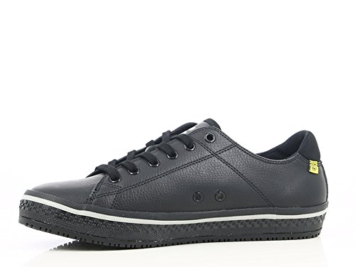 Leather Professional slip Black Oxypas With up Lace Shoe Sole src Oxygrip Anti static Anti 'paola' And Esd fBqw5p