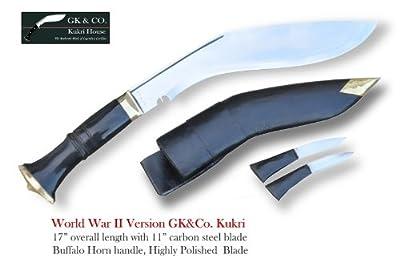 "Official Issued -Genuine Gurkha Kukri Knife - 11"" Blade World War II Hihgly Polished Kukri - Handmade by GK&CO. Kukri House in Nepal. by GK&CO. Kukri House"