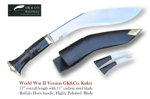 Official Issued -Genuine Gurkha Kukri Knife – 11 Blade World War II Hihgly Polished Kukri – Handmade by GK CO. Kukri House in Nepal.
