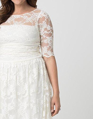 Kiyonna Women S Plus Size Aurora Lace Wedding Dress 1x