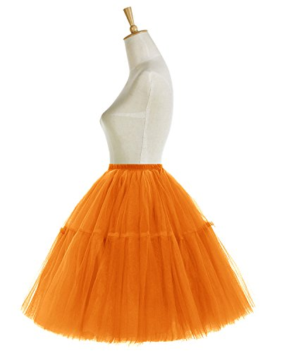 Bridesmay Faldas Cortas De Mujer Cancan Enagua Para Fietsa Boda Orange