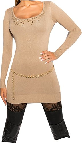 long pull beige dos ouvert fermeture sexy fashion femme tendance mode