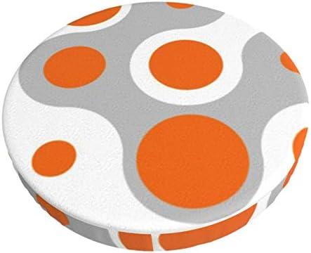 Ronde barstoel kussenhoes Ademend Wasbare Krukhoes Verbindende Dots Barkruk Stoelhoezen Elastische Kruk Slipcover 13 Inch