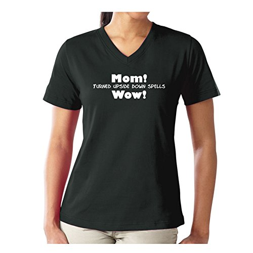 Mashed Clothing Mom Upside Down = Wow Women's V-Neck T-Shirt