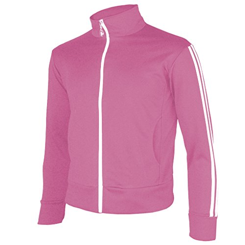 myglory77mall Men's Running Jogging Track Suit Warm Up Jacket Gym Training Wear (XL US(3XL Asian Tag), Pink)