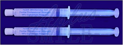 INSTANT WHITE SMILES 2 Large 20ml Professional 35% Teeth Whitening Gel syringes – Optimized Formula –