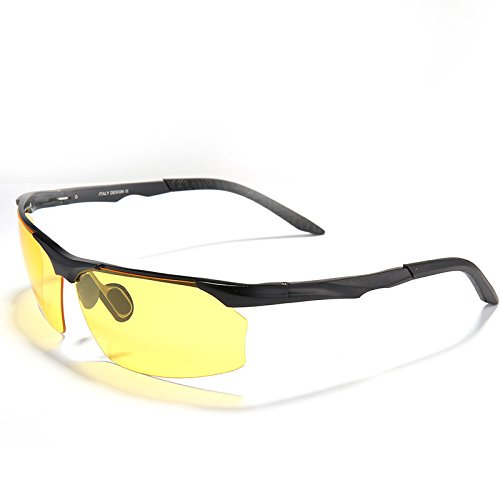 aluminio y plata para del hombre nocturna gafas de anteojos nero los polarizadas de gafas Il de sol magnesio guía TIANLIANG04 conductores amarilla de visión Lente UBPqwwO