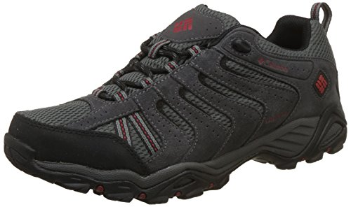 (Columbia Men's North Plains II Waterproof Hiking Shoe, City Grey, Rocket, 11 D US)