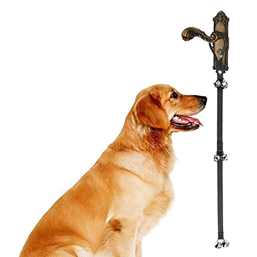 Dog Doorbell, PYRUS Dog Puppy Doorbell Rope House Training Doorbell for Housebreaking /House training /Potty Training (Black) For Sale