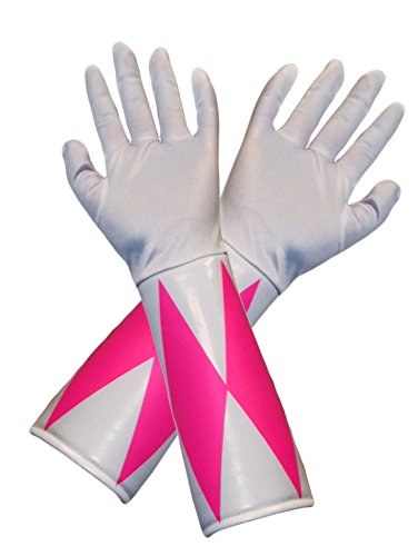 Pink Power Ranger Costumes Adults (Power Rangers Pink Ranger Costume Gloves Adult One Size)