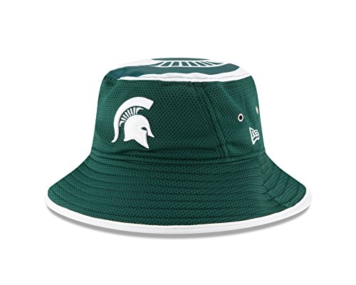 New Era NCAA Michigan State Spartans Men's Logo Topper Stretch Bucket, Green, One Size]()