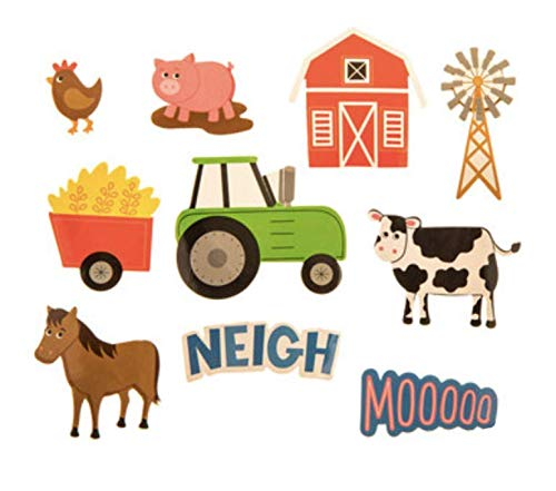 - 200 Barnyard Farm Animal Foam Stickers