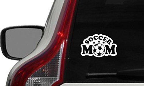 Soccer Mom Star Player Car Vinyl Sticker Decal Bumper Sticker for Auto Cars Trucks Windshield Custom Walls Windows Ipad Macbook Laptop and More (WHITE)