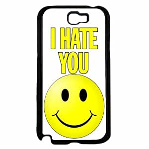 I Hate You With a Smiley Face- Plastic Phone Case Back For Case Samsung Note 4 Cover