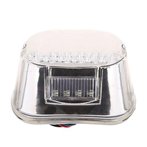 Homyl Smoke Tail Brake LED Light For 99-03 Harley Sportster XL Dyna FXD Touring ()