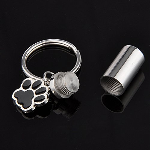 HooAMI-Pet-Cremation-Urn-Keychain-Keepsake-Puppy-Dog-Paw-with-Cylinder-Charm-Stainless-Steel-Keyring