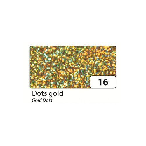 (Holographic Mylar Roll- Gold Dots 15.75in x)