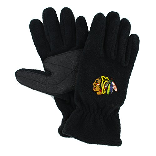 Price comparison product image NHL Chicago Blackhawks Men's '47 Fleece Gloves, Black