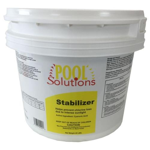 BLOSSOMZ Pool Solutions Swimming Pool 25Lb Chlorine Stabilizer Cyanuric Acid | P17025DE -