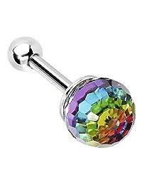 Aurora Rainbow Ball Cartilage Tragus Earring