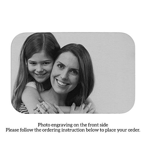 Stainless Steel One Side Photo Custom Engraving Personalized Mini Wallet Love Insert Card]()