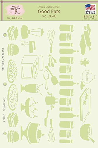 Fairytale Creations Good Eats Stencil, 8.5'' L x 11'' H by Fairytale Creations