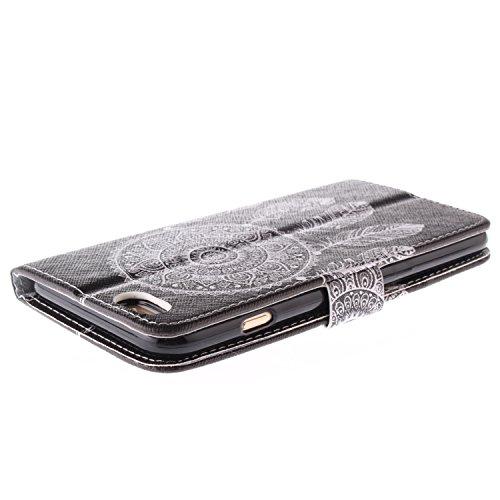 """MOONCASE iPhone 6 Case Magnetverschluss Leder Tasche Flip Case Cover Mit Standfunktion Kartenfächer Schutzhülle Etui Hülle Schale für iPhone 6 (4.7"""") -TX06"""