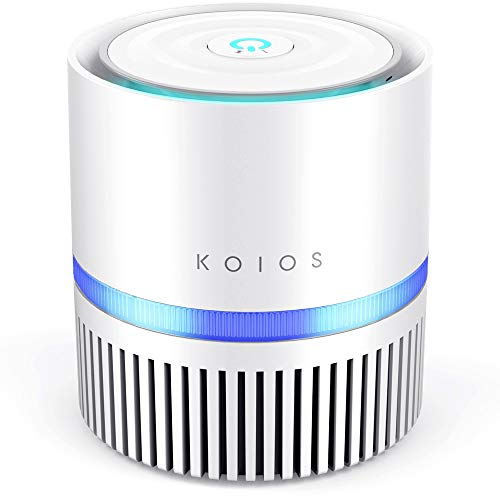 KOIOS Air Purifier, Desktop Air Filtration with True HEPA Filter, Compact Home Air Cleaner for Rooms and Offices,Odor…
