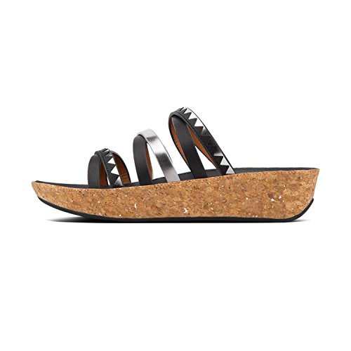 544 Black Multicolore Zigzag TM Pewter Bout Mirror Sandals FitFlop Slide Ouvert Linny Femme p7wqOwRa