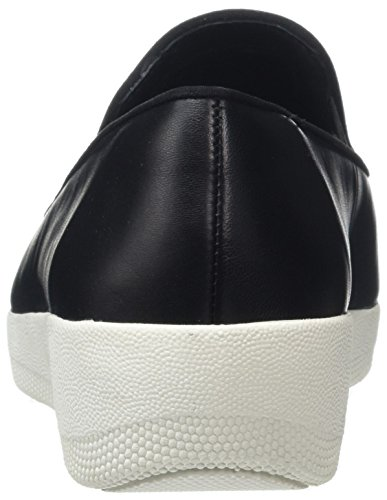 Fitflop Superskate, Mocasines Para Mujer Negro (Black 001)