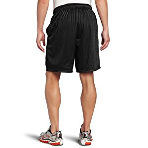 Russell Athletic Men's Mesh Short with Pockets, Black, Large