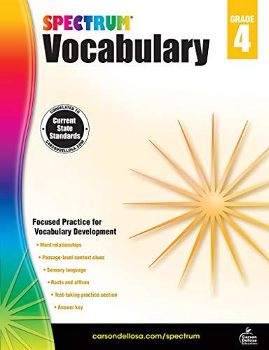 (Spectrum Paperback Vocabulary Book, Grade 4, Ages 9-10)