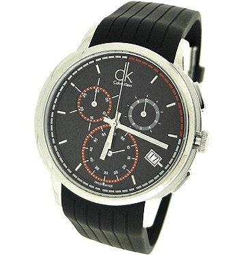 Drive Men's Chronograph Watch Dial/Strap Color: Black