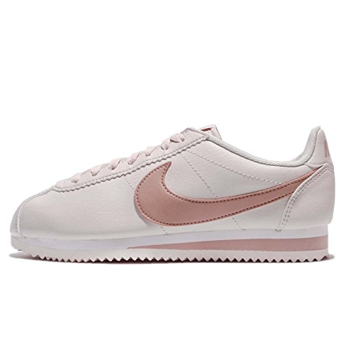 NIKE Women Classic Cortez Leather Sneaker Light Bone/Particle Pink (Large Image)