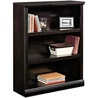 Sauder 420175 3-Shelf Bookcase 3, Estate Black