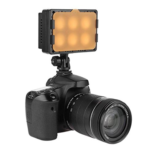 DP-iot DC7-8.4V 15W T6-C 5600K Video Light 1300LM 6LED Electrodeless Dimming Photography Fill Light for Wedding with Hot Shot