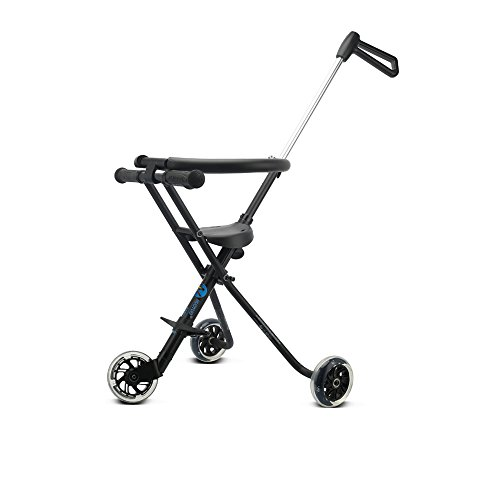 NUOYUO Portable Trike for 2-8 Years Old Lightweight Baby Stroller Lift and Fold with One Hand(Black)