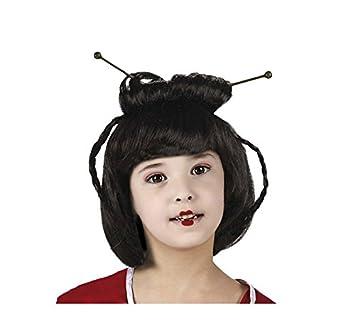 Peluca de Geisha o China para niña: Amazon.es: Juguetes y juegos