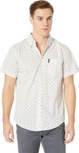 - Ben Sherman Men's LS Mixd Target PRNT Shirt, White XXL