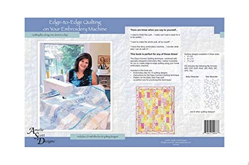 BlueArrowExpress Edge to Edge Quilting on Your Embroidery Machine Amelie Scott Designs