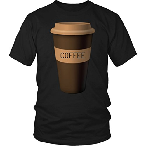 Coffee Cup Costume Shirt Roasted Beans Brewed Drink Beverage (XL, Black)