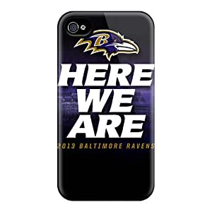 For MiniBeauty Iphone Protective Case, High Quality For Iphone 4/4s Baltimore Ravens Skin Case Cover